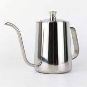 TAMUME 600ML Stainless Steel 5mm Gooseneck Spout Drip Pot for Coffee Service Stainless Steel Drip Tea Kettle for Drip Coffee