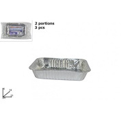 Disposable Tray x3/2 Servings Code 0091