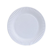 Nicole Home Collection 80 Count Everyday Dinnerware Paper Plate, 15cm , White