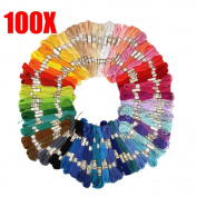 Hrph 50/100PCS Cross Stitch Cotton Embroidery Thread Floss Sewing Skeins Craft
