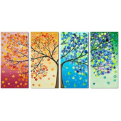 KAMIERFA Stamped Cross Stitch Scenery Four Seasons Rich Tree