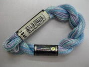 Anchor Pearl Cotton, 5g, Colour 1344 Pastel Blue Mottled
