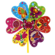 Set of 12 Plastic Windmill Wind Spinner Funny Toys