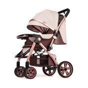 SUBBYE Pushchairs Strollers High Landscape Can Sit Lie Down Portable Foldable Two-way Shock Absorbers Stroller Four Seasons Universal Baby Stroller Suit For 0-3 Years Old Baby Pushchair