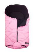 Bozz Artic Rose Pink Universal Thick Fleece Lined Footmuff/Cosytoes/Cosybag that fits all Stage 1 Infant Carrier Car Seats