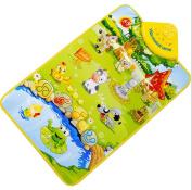 Musical Carpet Mat ♣Buyby toys, Baby Kids Gift Farm Animal Music Singing Gym Carpet