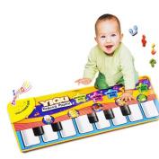 Musical Carpet Mat ♣Buyby toys, Baby Kids Gift Keyboard Music Singing Gym Carpet