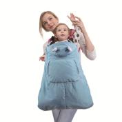 Baby Carrier Cover Waterproof Winter Hooded Windproof Cloak Pocket Front,Blue