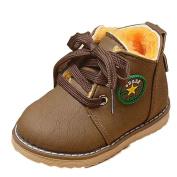 Winkey Fashion Army Style Cute Baby Boys Girls Winter Warm Snow Leather Boots