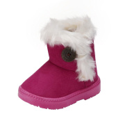 Webla Baby Girls Boys Button Boots Winter Keep Warm Anti-slip Thick Shoes for 12-36 Month Baby
