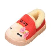 Lenfesh Cute Toddler Baby Girls Boys Plush Soft Sole Non-slip Warm Velvet Snow Shoes