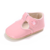 HEHILARK Children's flat shoes Baby Shoes Sweet Casual Princess Girls Baby Kids Shoes Soft PU Leather Solid Crib Baby Infant Toddler Cute Ballet Shoes pink
