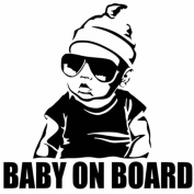 NEW BABY ON BOARD child in car sticker car styling tuning BLACK