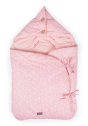 Glorious Lou Organic Cotton Baby Sleeping Bag For Baby Seat/Universal/Maxi Cosi Car Seat/Carry Cot – Essentials Collection – Pink Confetti
