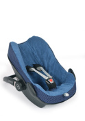 Glorious Lou Terry Towelling for Maxi Cosi Pebble – Made from 100% Cotton – Essentials Collection Car Seat Cover – Blue Dots