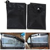 Alamor 70*53Cm Car Sucker Curtain Window Sunshade Retractable Mesh Fabrics