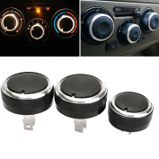 Alamor 3Pcs Air Conditioning Switch Knob Buttons For Livina/Tiida/Geniss/Nv200