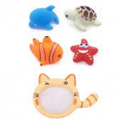 Momongel Floating Animals Bathtime Bathing Toys Children Fishing Net Catch Baby Toy
