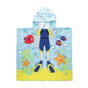 Cartoon Print Hooded Bath Towel Unisex Beach Towel