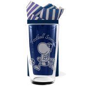"Football, Straight Sided, Conical One Pint Beer Glass ""Football Scores!"", Professionally Engraved, In a Gift Box with Co-ordinating Tissue as shown. Football Gift, Present, Footballers Gift,"