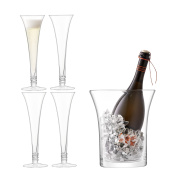 Ginsanity Prosecco Collection - 4 Flutes / Glasses Hand Made & Ice Bucket