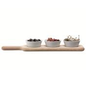 Ginsanity Set of Three Serving Bowls & Oak Paddle