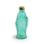 Black Velvet Studio Bottle Fish Light Green colour Water or juice, with cork stopper to prevent odours Glass/cork 26 x 7,5 x 10 cm