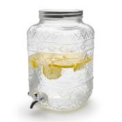 Black Velvet Studio Juice dispenser Drink Transparent colour Water or juice with twist-off cap metáilica Glass/metal 32 x 19 x 19 cm