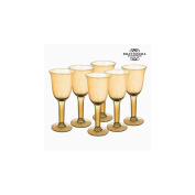 Recycled Wine Glasses (6 pcs) 500 ml Yellow - Crystal Colours Kitchen Collection by Bravissima Kitchen