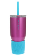 reduce COLD-1 Vacuum Insulated Stainless Steel Tumbler with Silicone Grip, 3-in-1 Lid, 709mL - Tasteless and Odourless