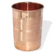 Dungri India Copper Cup Water Tumbler - Handmade Water Glasses - Traveller's Copper Mug for Ayurveda Benefits