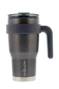 reduce HOT-1 Vacuum Insulated Mug with Slender Base, 3-in-1 Lid & Ergonomic Handle, 509mL - Tasteless and Odourless Metallic Finish