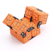 Fidget Toy Infinity Cube High Quality Anti Stress Magic Cube Finger Spinners Toys Orange
