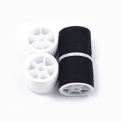 4 x Over Locking Thread Over Locker Thread Polyester Sewing Thread Black White By Accessories Attic®