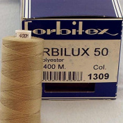 Light Beige Sewing Thread Thickness 50 Polyester 400 m Forbi Lux Forbitex