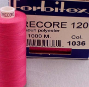 Pink Sewing Thread Thickness 120 Polyester 1000 m Trecore Forbitex