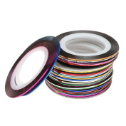 30Pcs Mixed Colours Rolls Striping Tape Line DIY Nail Art Tips Decoration Sticker Nail Care