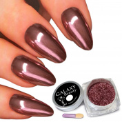 Galaxy Beauty Real Rose Pink Gold Effect Mirror Nail Glitter Chrome Powder Super Shine Pigment
