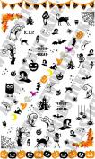 AWS Package stickers sheet of Halloween Stickers Transfer Nail Art Water Decals Halloween Bats Cupcake Kits zukka Pumpkin Ghost Ghost