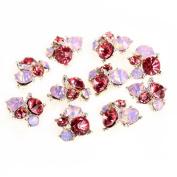 10 Pcs 3D Nail Alloy Jewellery Tips Decoration Glitter Rhinestone Art Nail Decoration