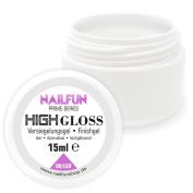 Nailfun Prime High Gloss  UV + LED High-Gloss Sealing Gel Finishgel Dünnfliessend Finish Gel, 1 x 15 ml
