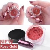 IGEMY Sexy Rose Gold Nail Mirror Powder Glitter Chrome Powder Art Decoration