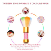 Colourful Brush,Legal Brush Remove Dust Powder For Acrylic Nails Nail And Nail Art Dust Clean