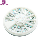 KADS Ovals & Water Drop 6 Different Shapes Design White Colours Symphony Pearl Rhinestone Acrylic Beauty Nail Accessories tool