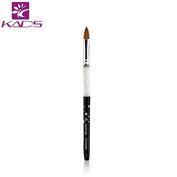 KADS Size 10 # kolinsky sable acrylic nail brush black 100% Kolinsky Sable Brush Professional acrylic brush