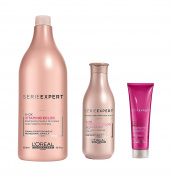 L'Oreal Serie Expert Vitamino Colour A-OX Shampoo 1500ml, Conditioner 200ml and Brunette Cool Cover Cream 150ml