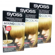 Syoss Mixing Colours Hair Colour Dye Kit Champagne 8-15 Multipack 3x