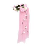 JasmineLi Women's Flower Festival Wedding Hair Wreath Bridal Flower Headband
