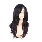 MZP Natural Wig Wig for Women Costume Wig Cosplay Wigs , black/dark wine
