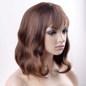 MZP Women Synthetic Wig Capless Short Straight Brown Natural Wig Halloween Wig Carnival Wig Costume Wigs , brown